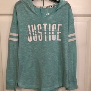 Justice Sweater Pull Over Hoodie
